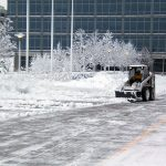 commercial Snow Removal at business park