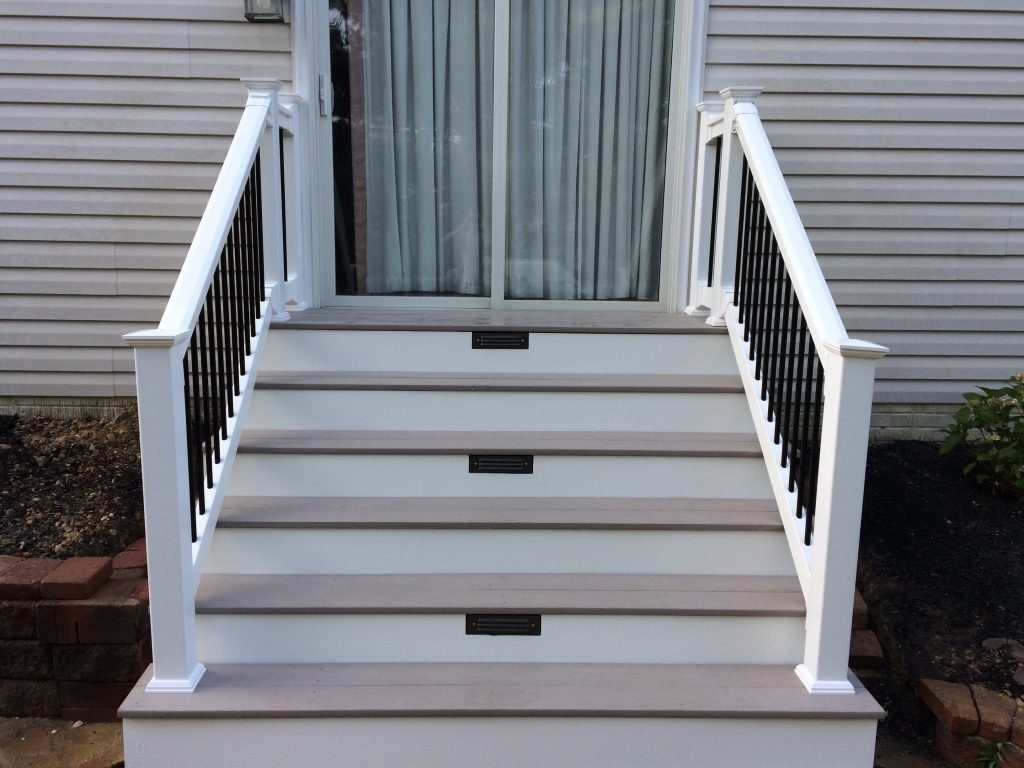 Composite Steps and Vinyl Railings