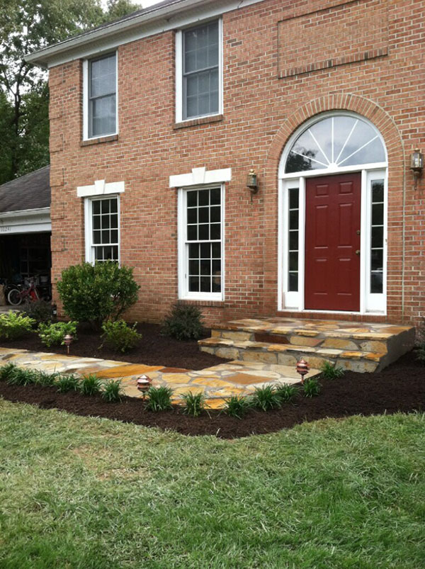 Stone Front Porch and Walkway
